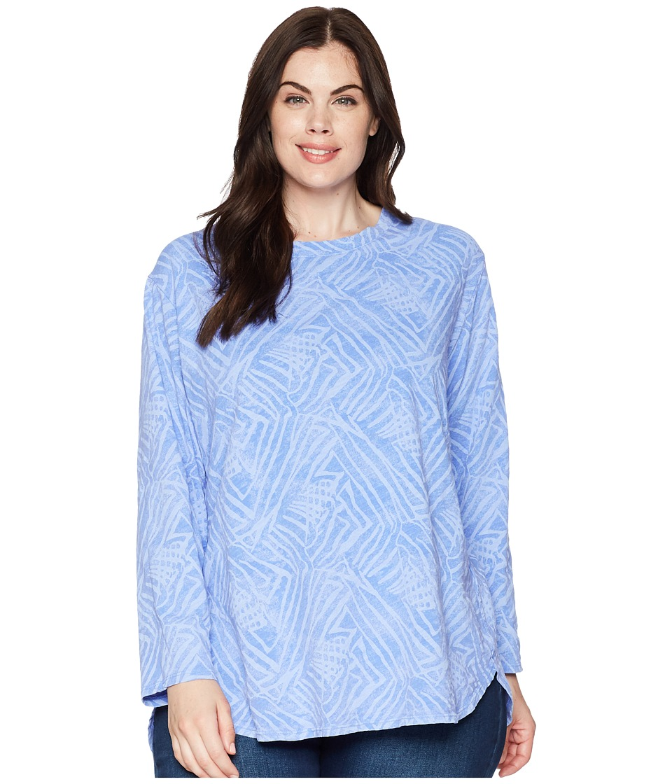 Extra Fresh by Fresh Produce - Plus Size Ocean Tide Catalina Top (Peri Blue) Womens Clothing