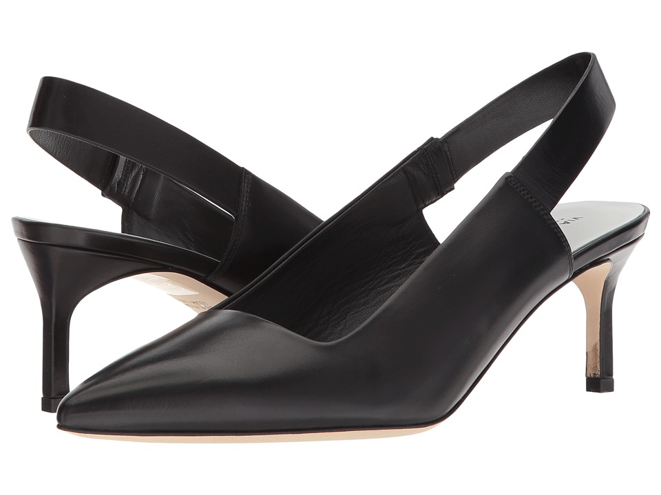 Via Spiga - Blake (Black/Black Strap Leather) High Heels