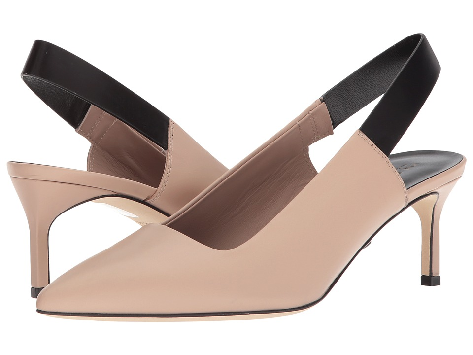 Via Spiga Blake (Sand/Black Strap Leather) High Heels