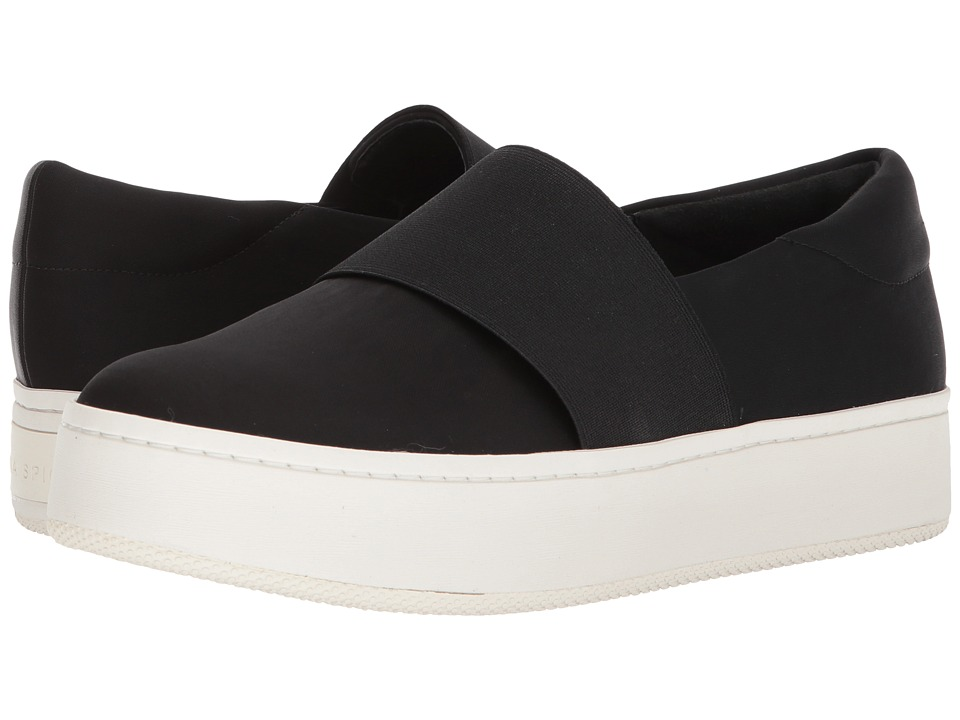 Via Spiga - Traynor (Black Canvas) Womens  Shoes