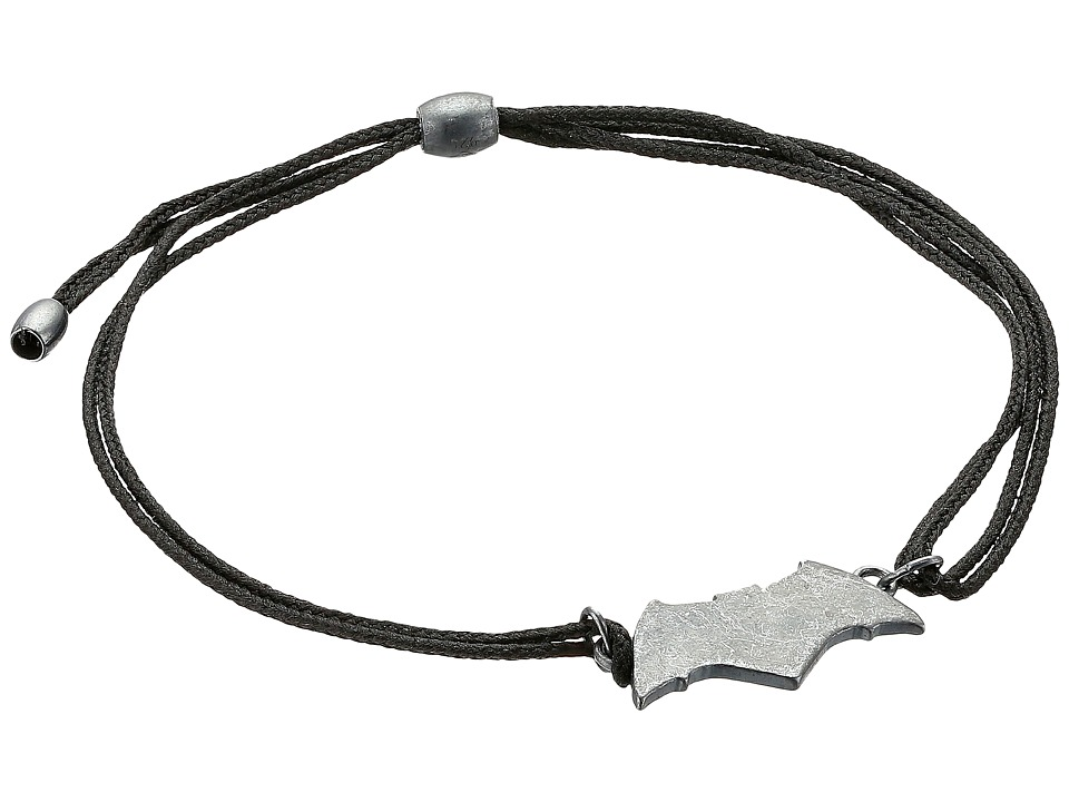 Alex And Ani Justice League Batman Kindred Cord Bracelet (Hematite) Bracelet
