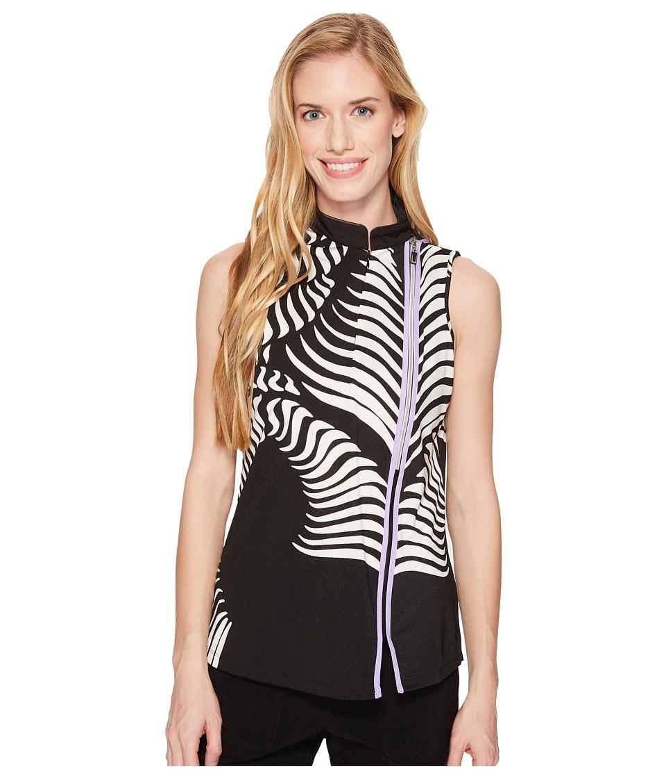 Jamie Sadock - Fern Print Sleeveless top (Purplexed) Womens Sleeveless