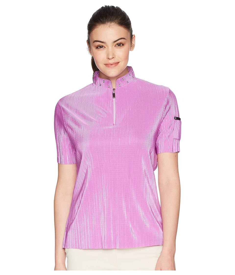 Jamie Sadock - Crunchy Short Sleeve Top (Desire) Womens Clothing
