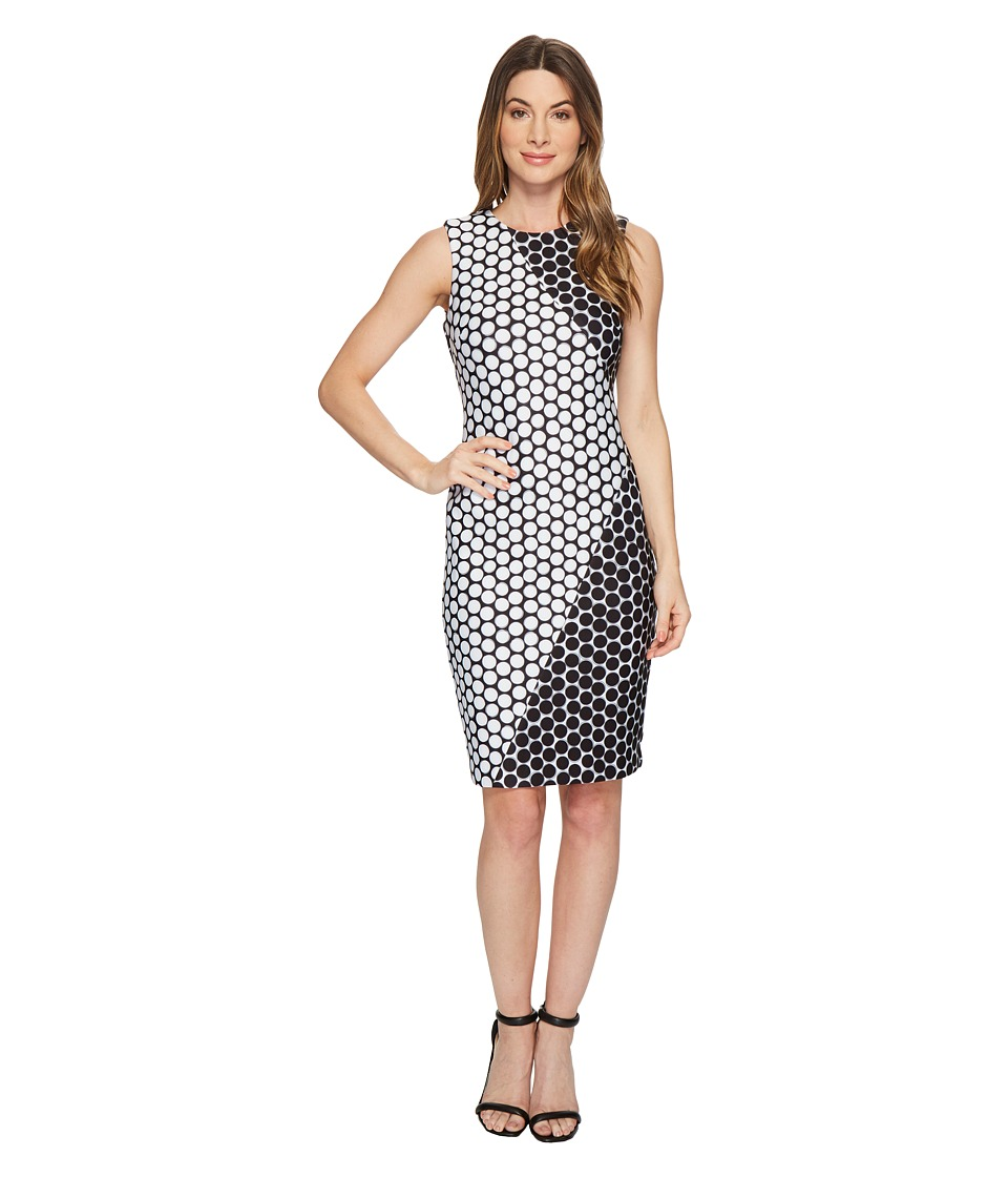 Calvin Klein - Polka Dot Dress (Black/White Dot) Womens Dress