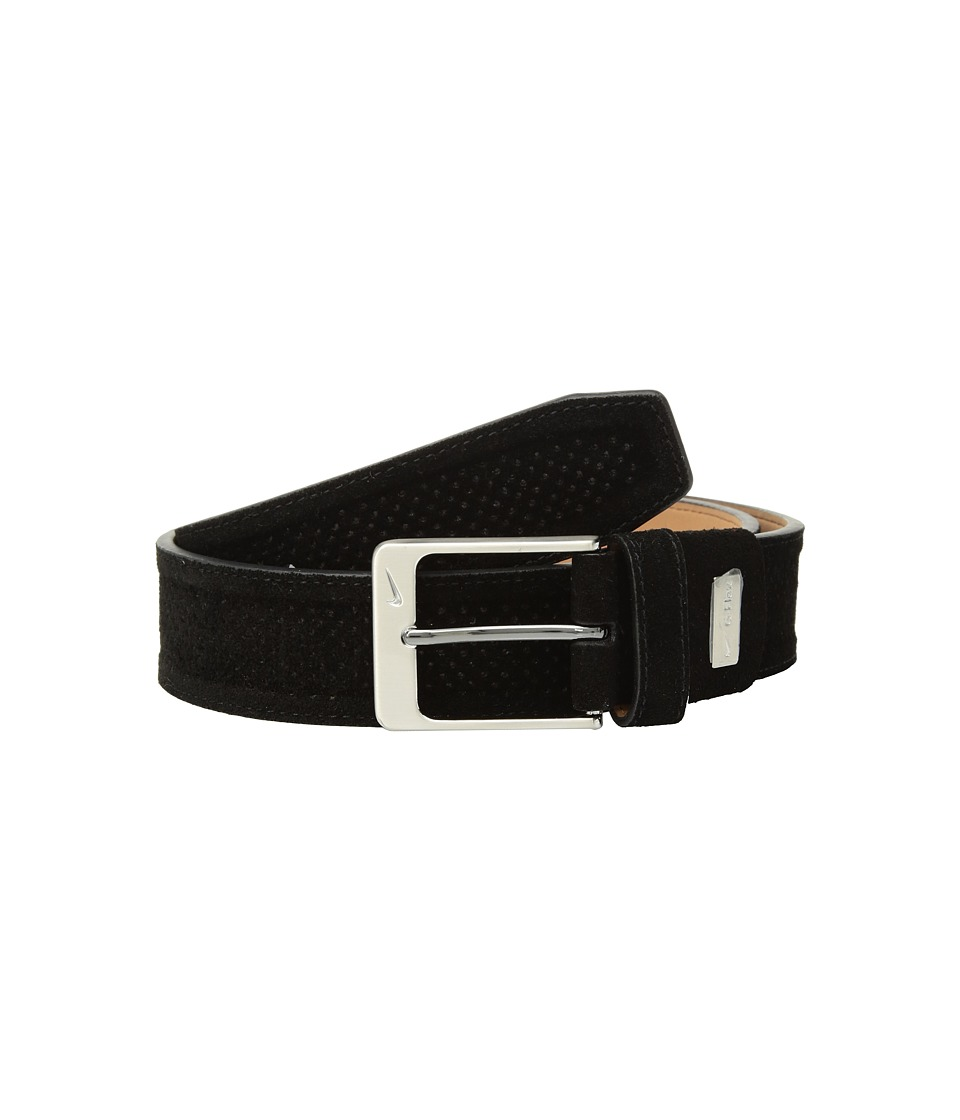 Nike - Wide Perforated Trapunto G-Flex (Black) Mens Belts