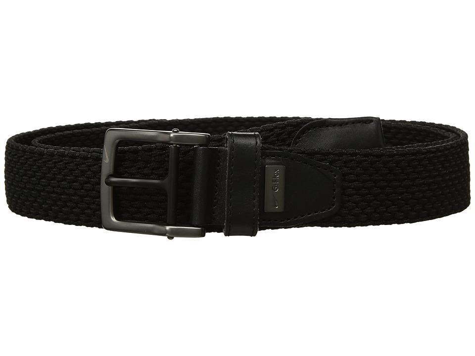 Nike - Stretch Woven Big Tall (Black) Mens Belts