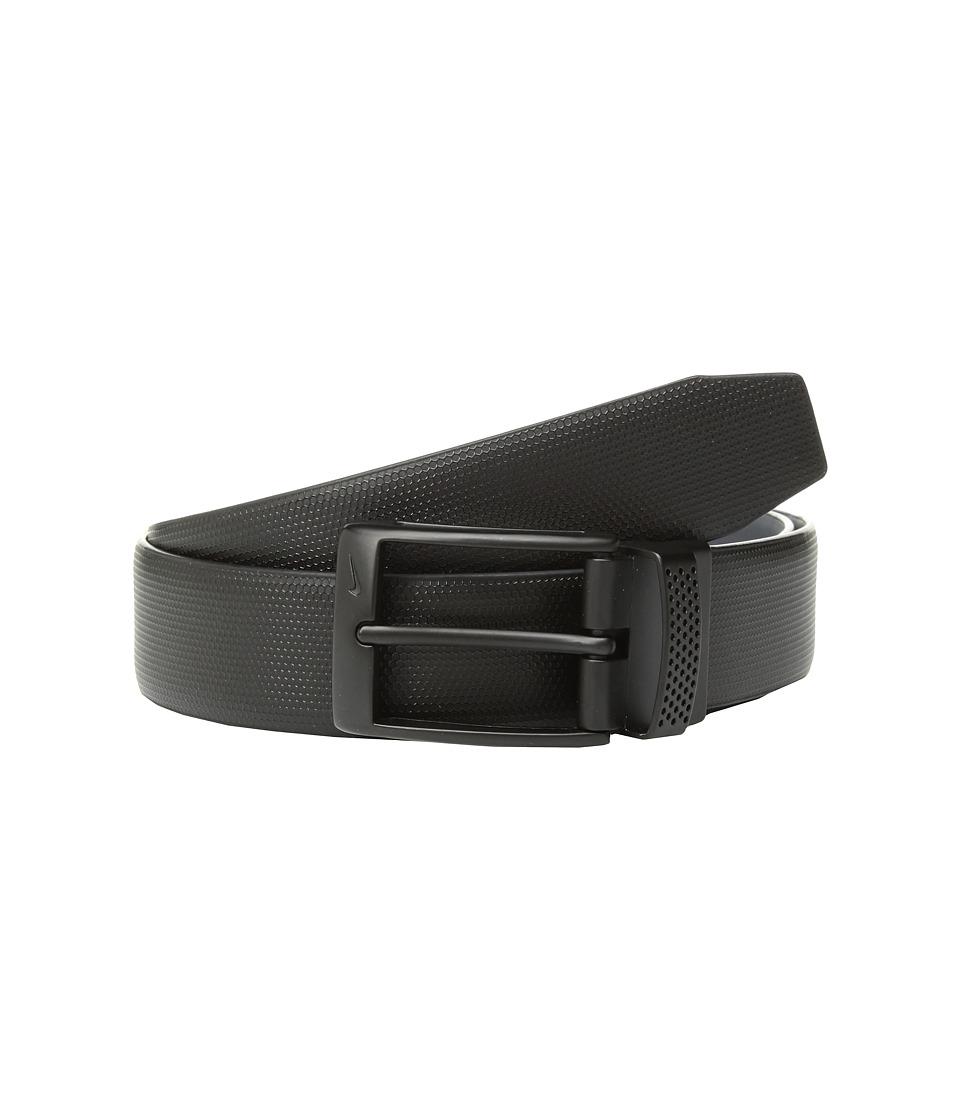 Nike - Cut Out Keeper Reversible (Black/Dark Grey) Mens Belts
