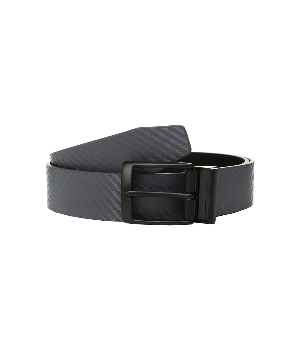Nike - Carbon Fiber Texture Reversible II (Dark Grey/Black) Mens Belts