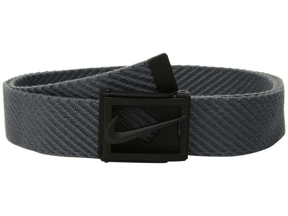 Nike - Diagonal Web (Dark Grey) Mens Belts