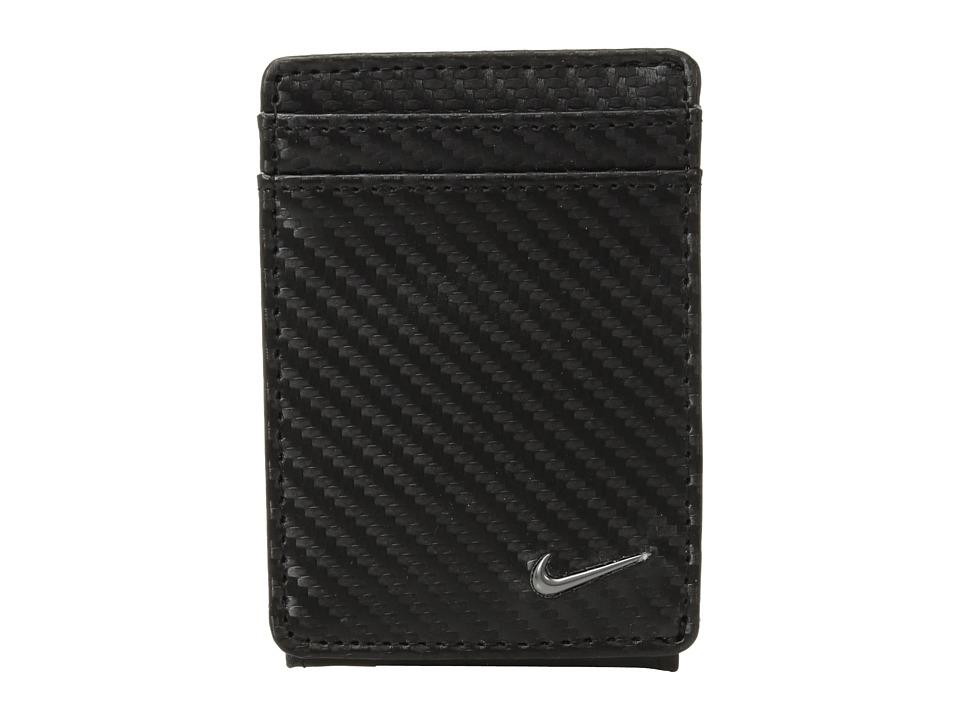 Nike - Carbon Fiber Texture Front Pocket Wallet (Black) Wallet Handbags