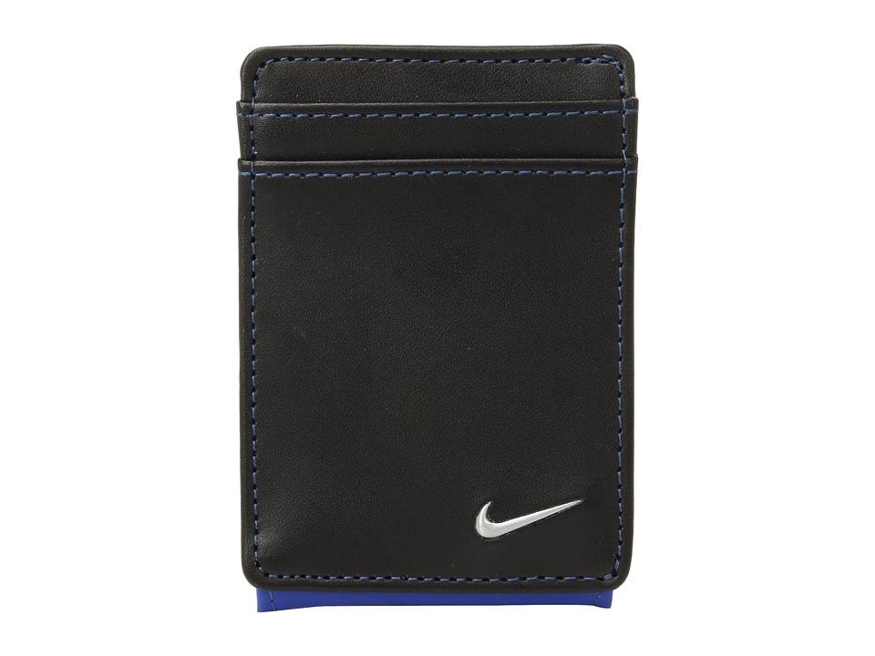 Nike - Color Block Cardfold (Black/Game Royal) Wallet Handbags