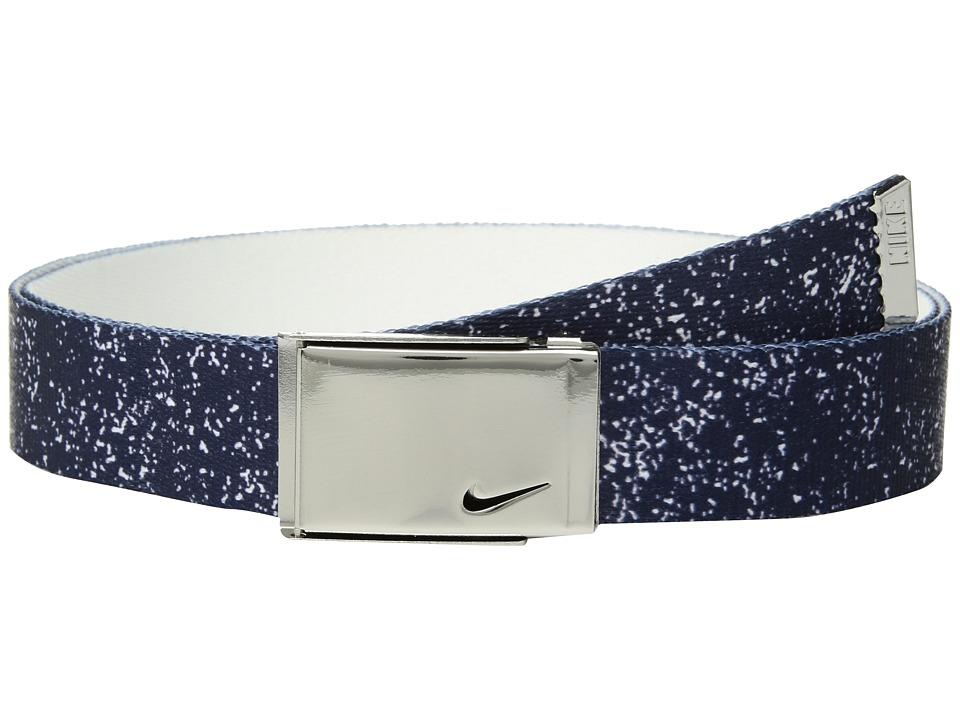 Nike - Graphic Reversible Web (Thunder Blue/White) Womens Belts