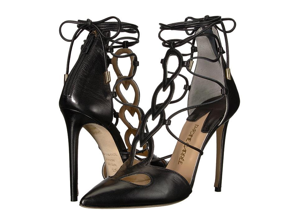 Racine Carree - Ankle Wrap Pointed Toe Heel (Black Nappa) High Heels