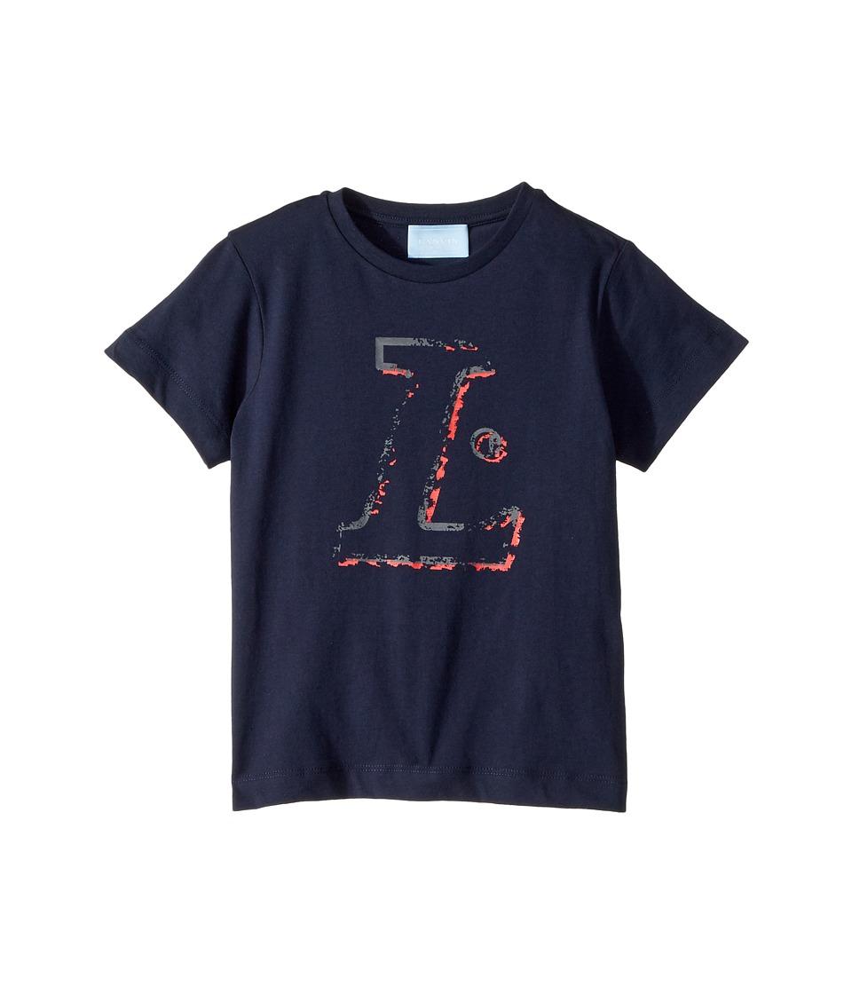 Lanvin Kids - Print T-Shirt (Toddler/Little Kids) (Dark Navy) Boys T Shirt