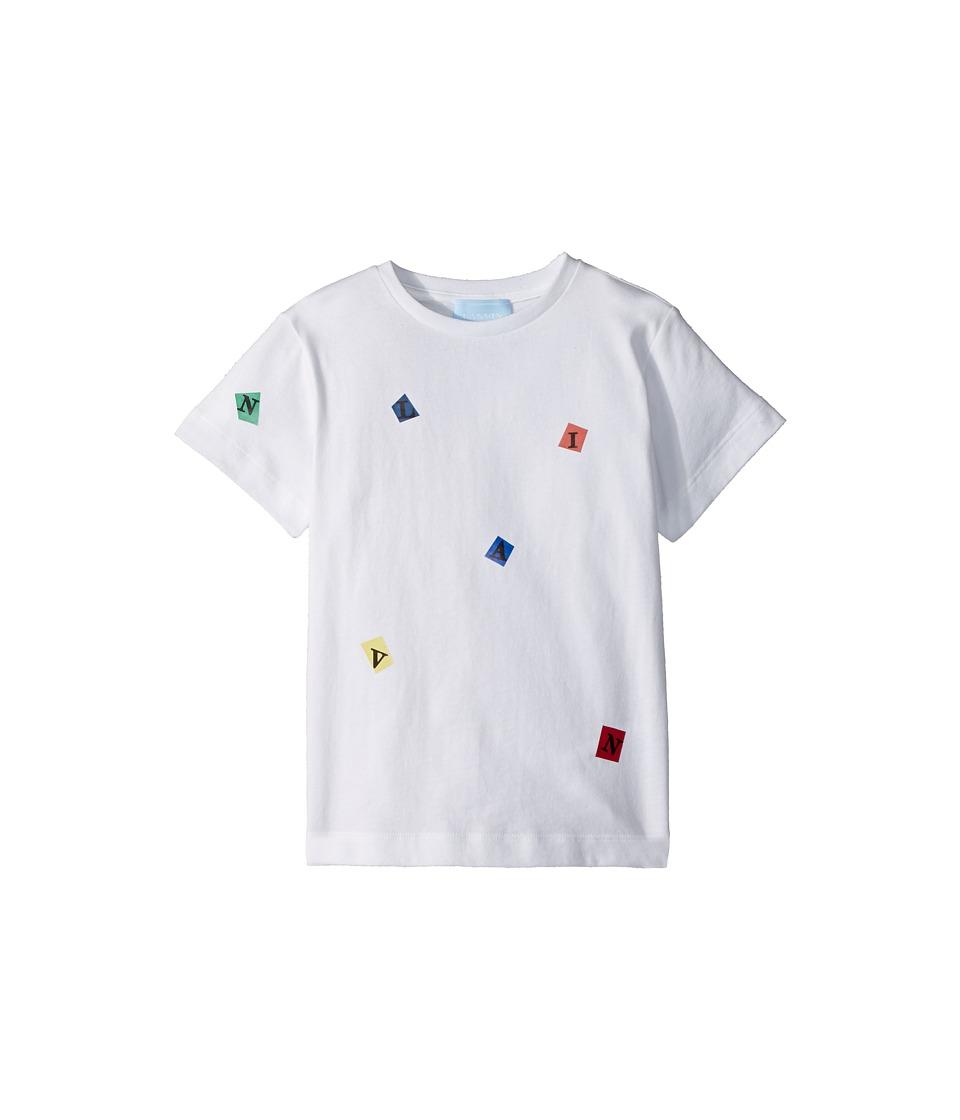 Lanvin Kids - Tossed Letters T-Shirt (Toddler/Little Kids) (White) Boys T Shirt
