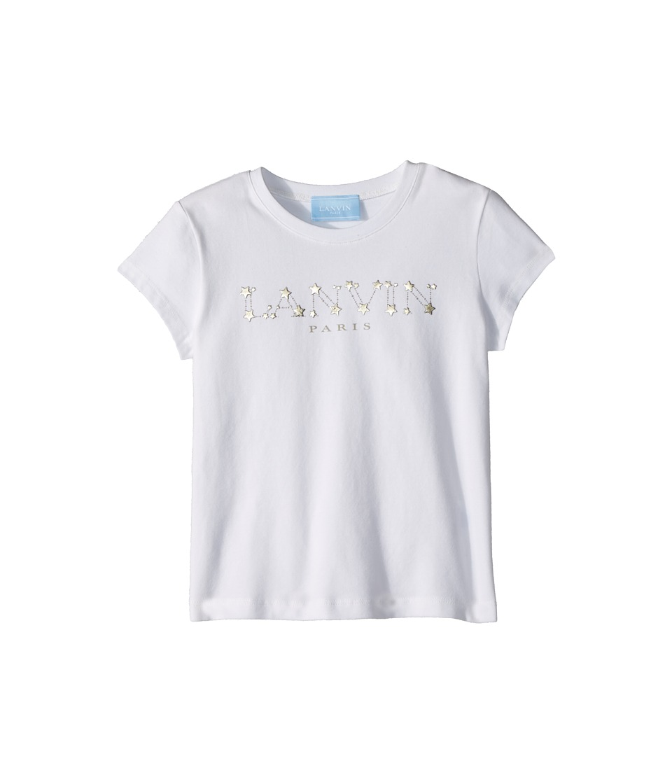 Lanvin Kids - Star Logo T-Shirt (Little Kids/Big Kids) (White/Gold) Girls T Shirt