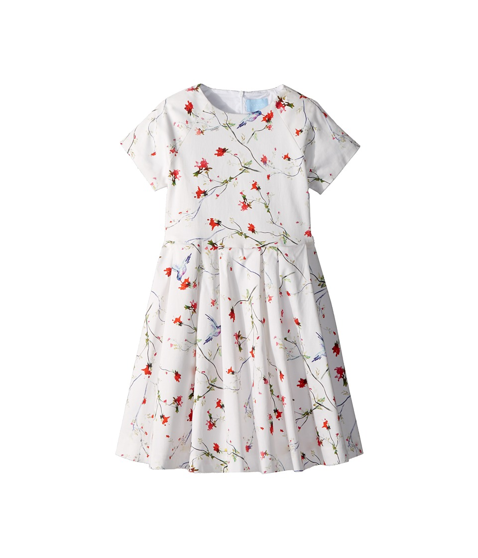 Lanvin Kids - Bloom Short Sleeve Dress (Little Kids/Big Kids) (White/Multi) Girls Dress