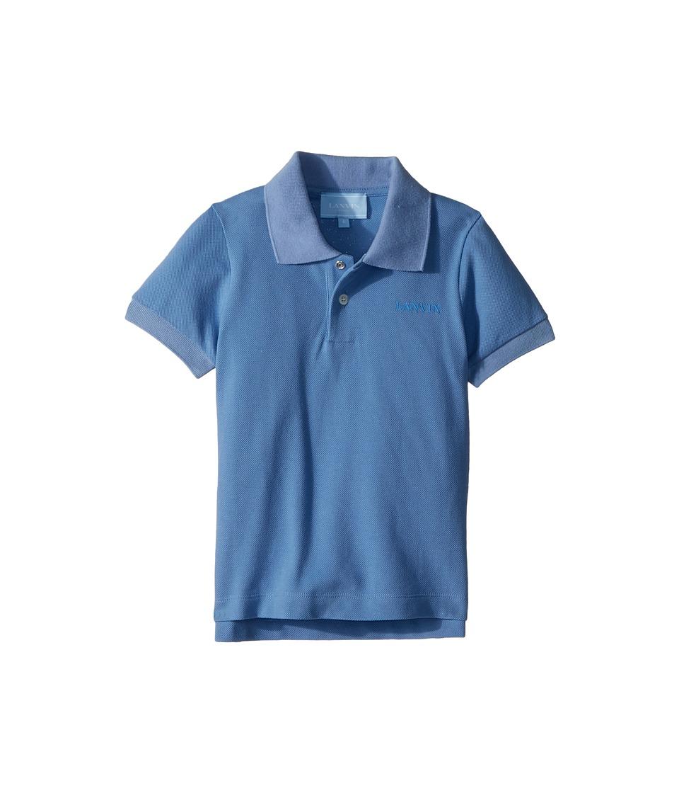Lanvin Kids - Basic Polo (Toddler/Little Kids) (Sky Blue) Boys Clothing