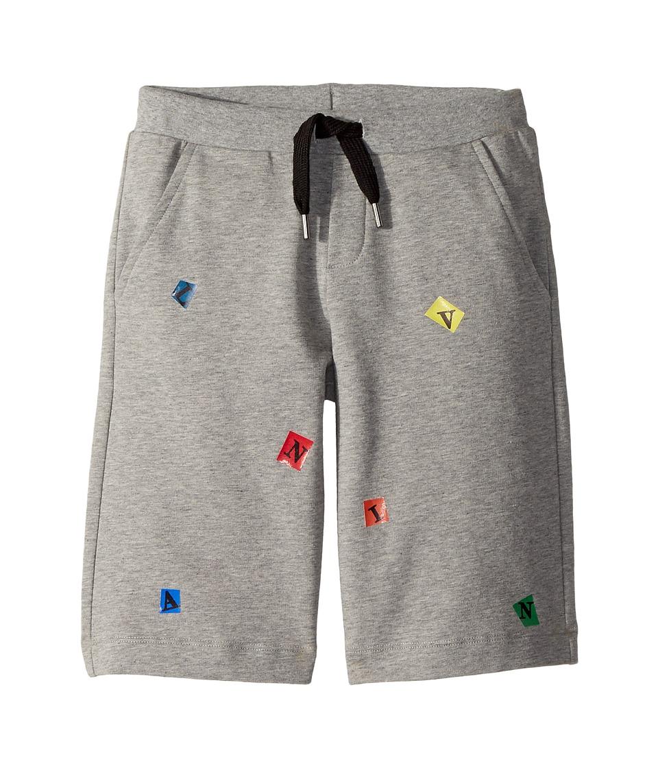 Lanvin Kids - Letters Bermuda (Little Kids/Big Kids) (Grey) Boys Clothing