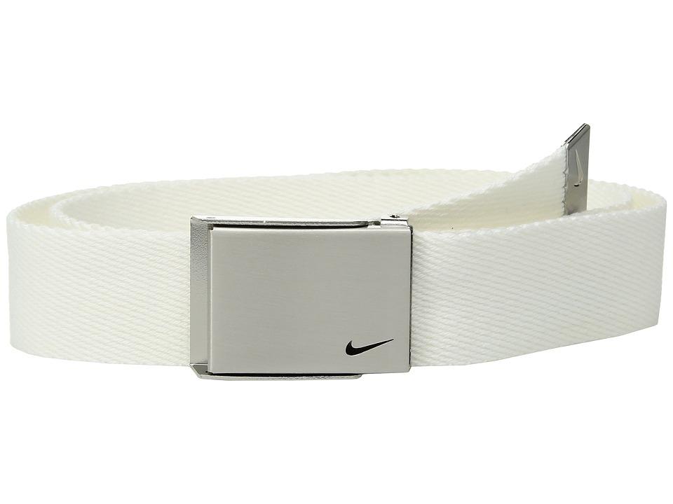 Nike - Single Web Belt (Big Kids) (White) Mens Belts