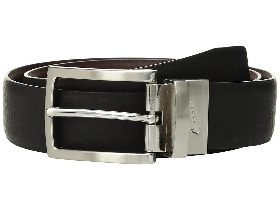 Nike - Reversible Pebble Harness (Big Kids) (Black/Brown) Mens Belts
