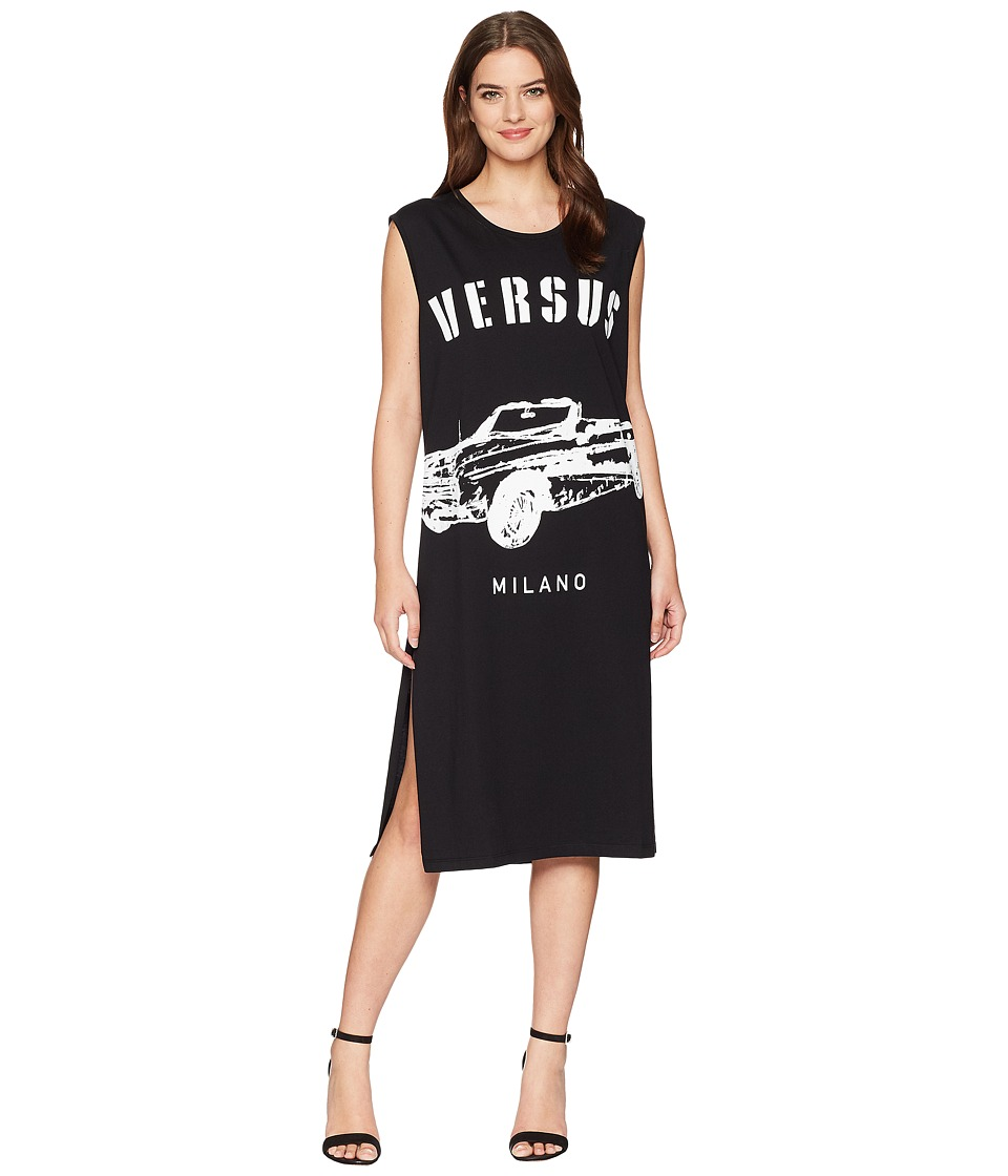 Versus Versace - Abito Donna Jersey (Black/Stampa) Womens Clothing
