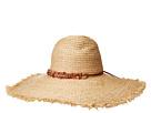 San Diego Hat Company San Diego Hat Company RHL3090OS Raffia Braid w/ Double Stone Trim Sun Brim