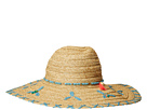 San Diego Hat Company UBL6805OS Sun Brim w/ Turquoise Bead Trim