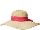 San Diego Hat Company PBL3096OS Woven Paper Floppy w/ Scarf Bow Trim