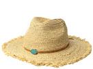 San Diego Hat Company RHF6125OS Raffia Braid w/ Stone Trim
