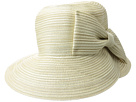 San Diego Hat Company San Diego Hat Company MXM1025OS Mixed Braid Cloche w/ Oversized Bow