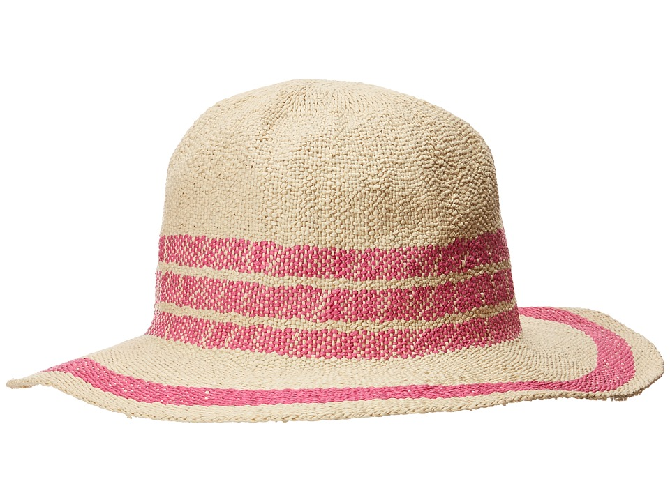 San Diego Hat Company - PBF7311OS Fedora w/ Pop Color Stripes (Pink) Caps