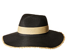 San Diego Hat Company PBF7310O Fedora w/ Natural Inset And Frayed Edge