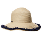 San Diego Hat Company PBM1042OS Paperbraid w/ Pop Color Frayed Raffia