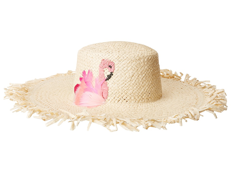 Women's Vintage Hats | Old Fashioned Hats | Retro Hats San Diego Hat Company - PBL3102OS Woven Paper w Flamingo Natural Caps $60.50 AT vintagedancer.com