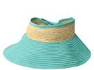 San Diego Hat Company RBV001OS Ribbon Visor w/ Adjustable Raffia Bow Closure