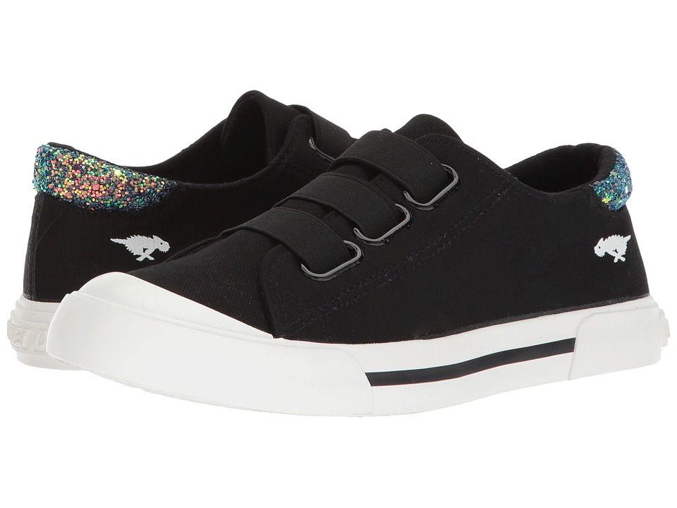 Rocket Dog Jamaica (Black 8A Canvas/Solar Power) Women's Hook and Loop Shoes