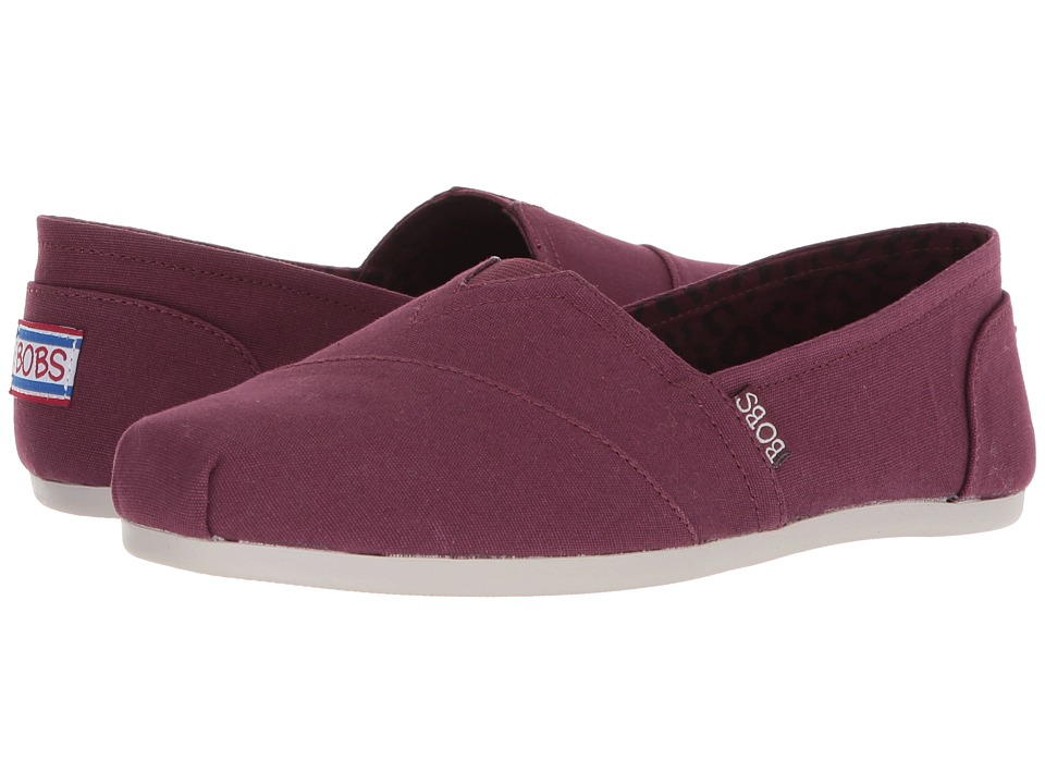 BOBS from SKECHERS Bobs Plush - Peace and Love (Burgundy) Women's Shoes