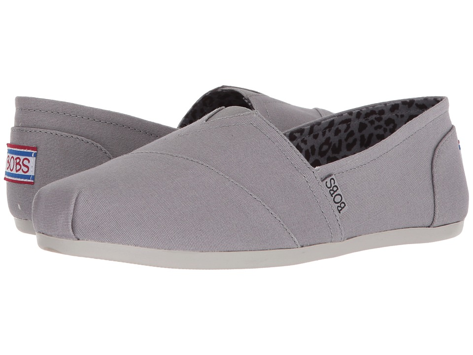 BOBS from SKECHERS Bobs Plush - Peace and Love (Gray) Women's Shoes