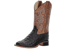 Old West Kids Boots Black Croc Print Square Toe Boot (Toddler/Little Kid)
