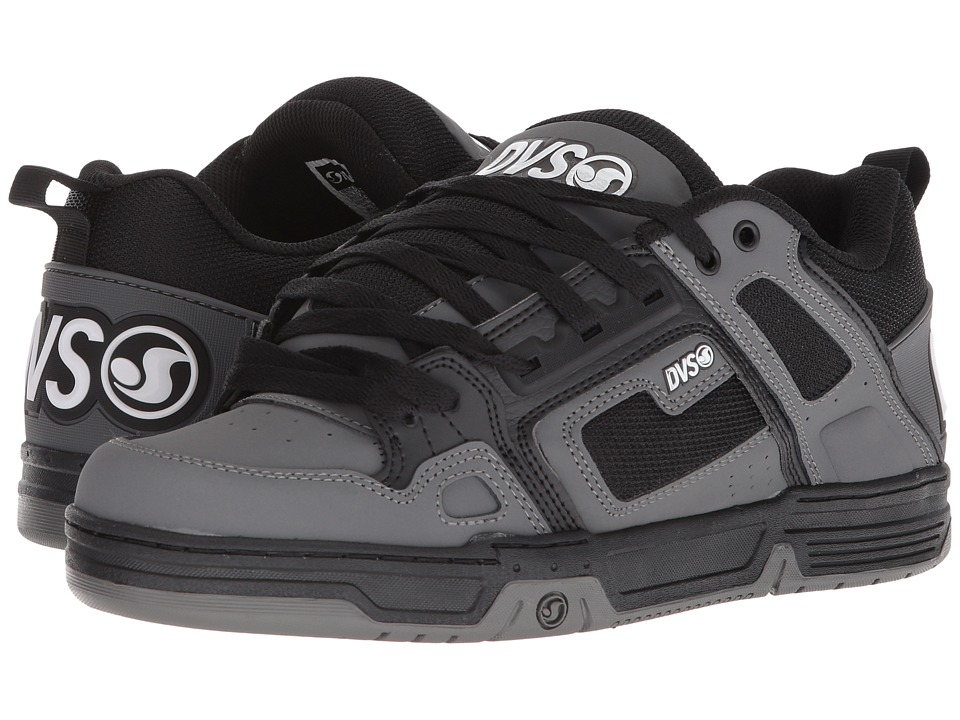 DVS Shoe Company - Comanche (Black/Charcoal) Mens Skate Shoes