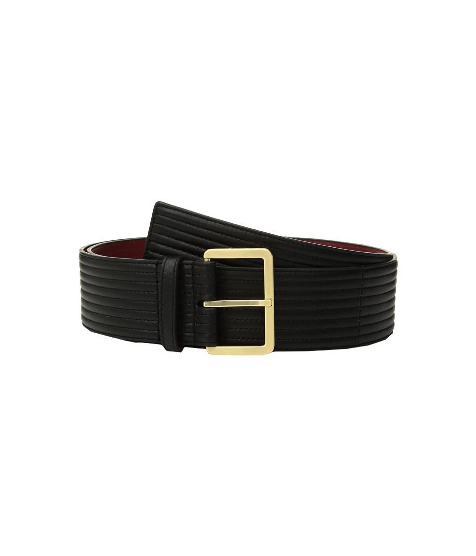 Calvin Klein Padded Belt w/ Eyelets (Black) Women
