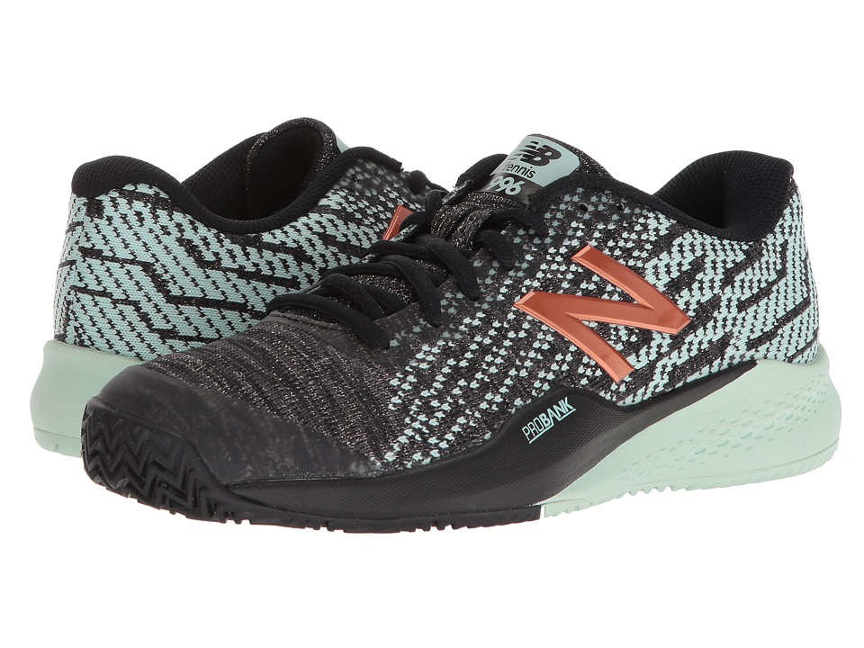 New Balance WCY996v3 (Black/Seafoam) Women's Tennis Shoes
