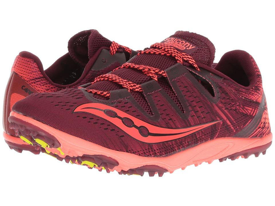 Saucony Carrera XC3 Flat (Berry/Vizi Red) Women's Running Shoes