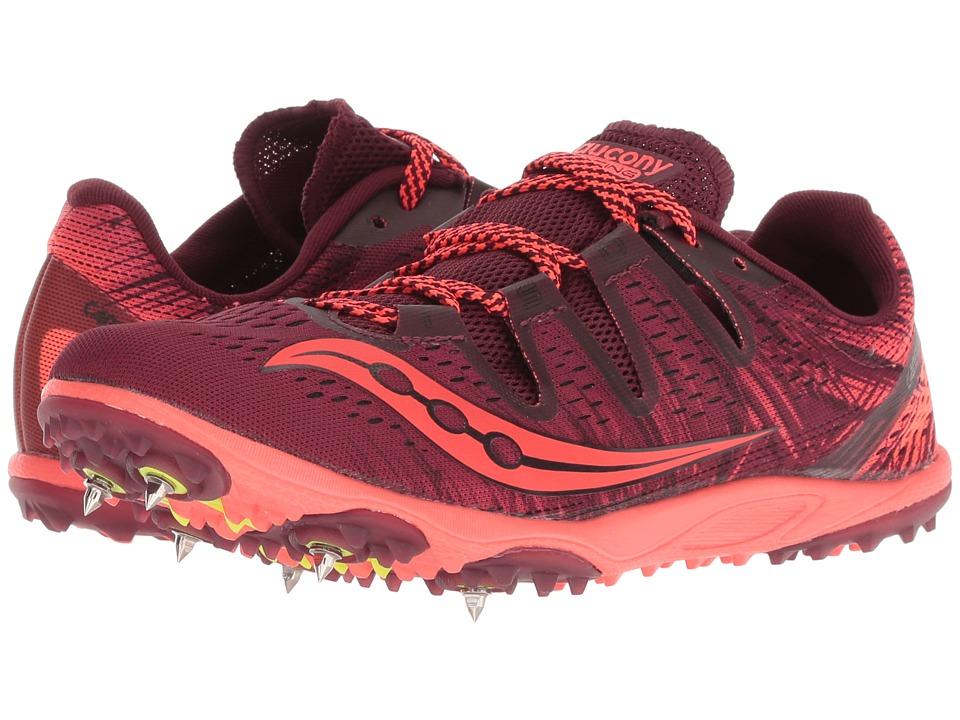 Saucony Carrera XC3 (Berry/Vizi Red) Women's Running Shoes