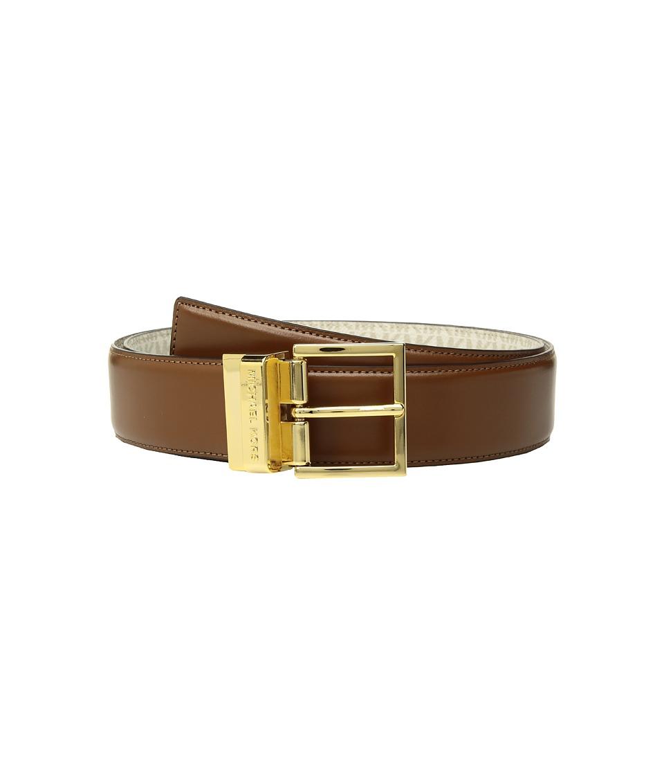 MICHAEL Michael Kors Reversible Smooth to Logo Belt (Acorn/Chocolate) Women