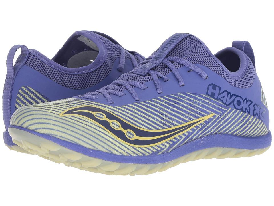 Saucony Havok XC2 Flat (Purple/Yellow) Women's Shoes