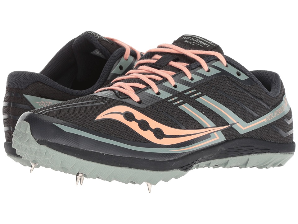 Saucony Kilkenny XC7 (Jet/Blush) Women's Running Shoes