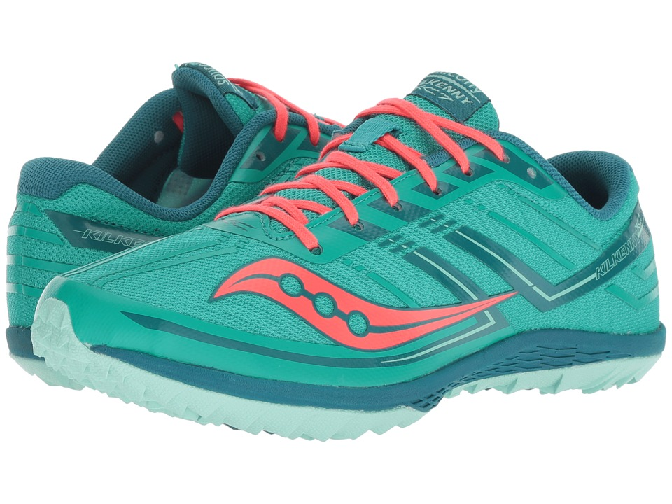 Saucony Kilkenny XC7 Flat (Teal/Red) Women's Running Shoes