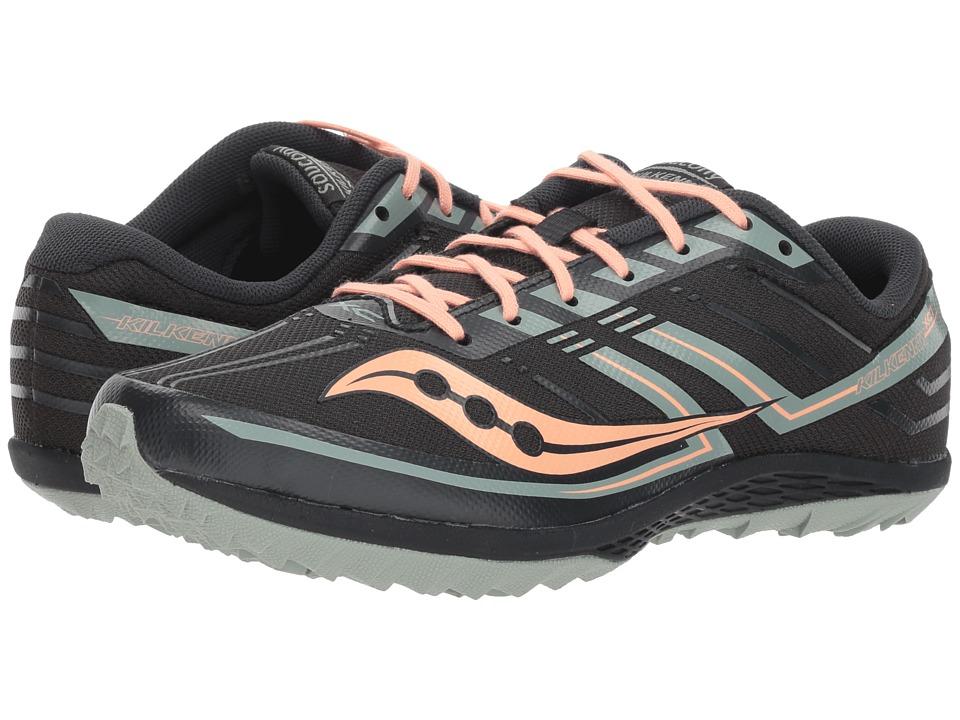 Saucony Kilkenny XC7 Flat (Jet/Blush) Women's Running Shoes